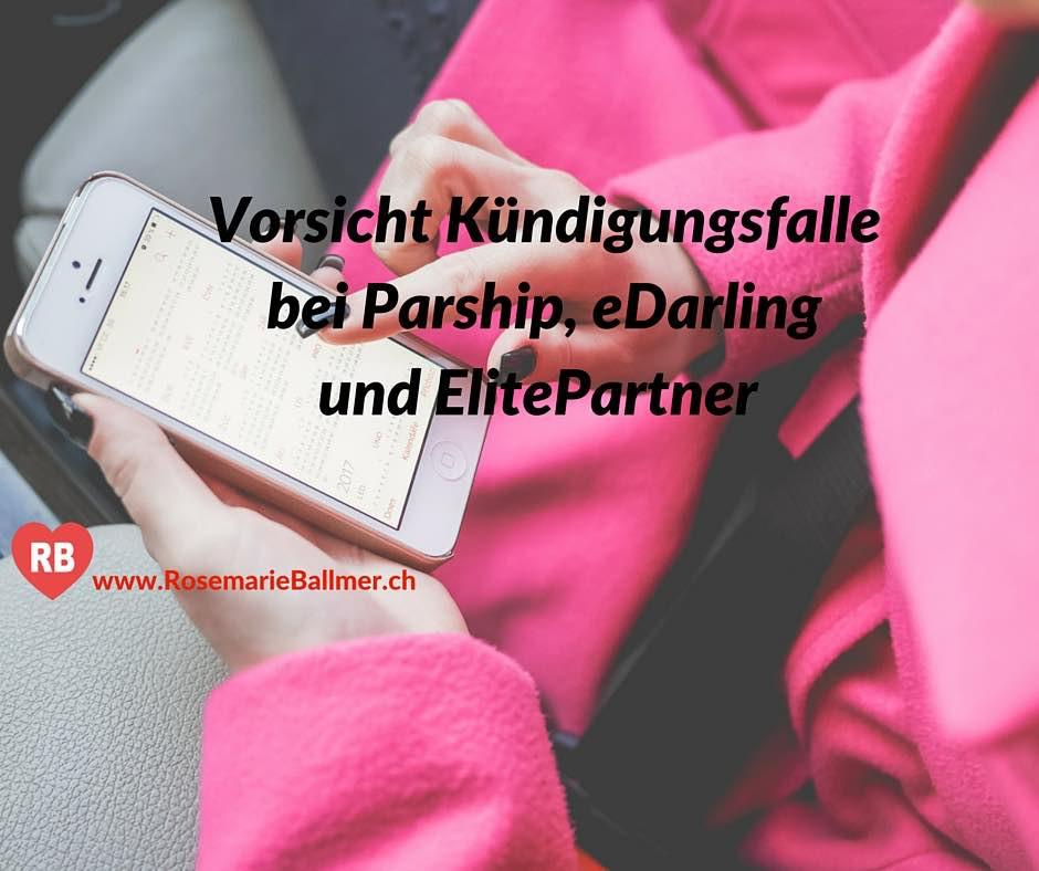 Online Partnervermittlung Kündigung und Kündigungsfalle bei Parship, eDarling und ElitePartner
